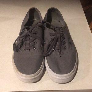 Grey unisex vans grey. Euc women's 6.5 men's 5